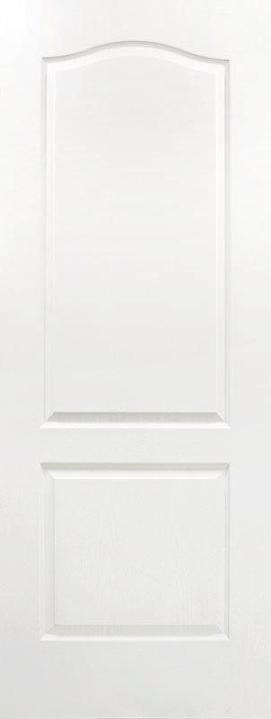 molded 2 panel archtop textured bead & cove door