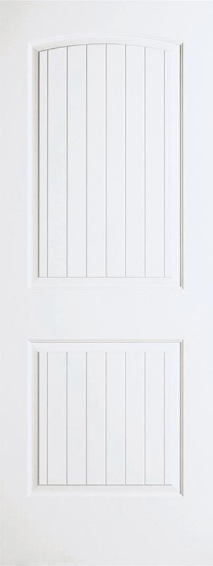 molded 2 panel roundtop plank smooth ovolo door