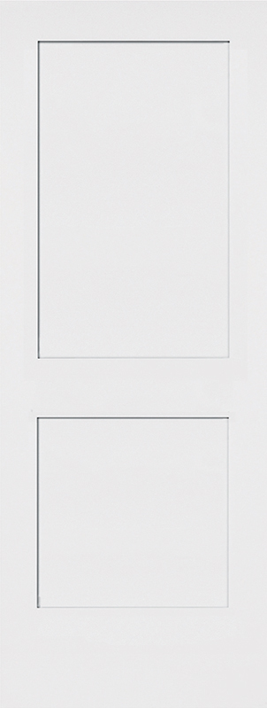 Molded 2 panel shaker smooth square door