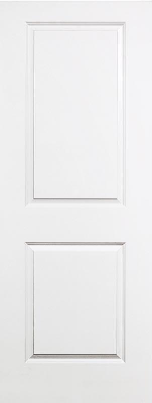 molded 2 panel squaretop smooth bead & cove door