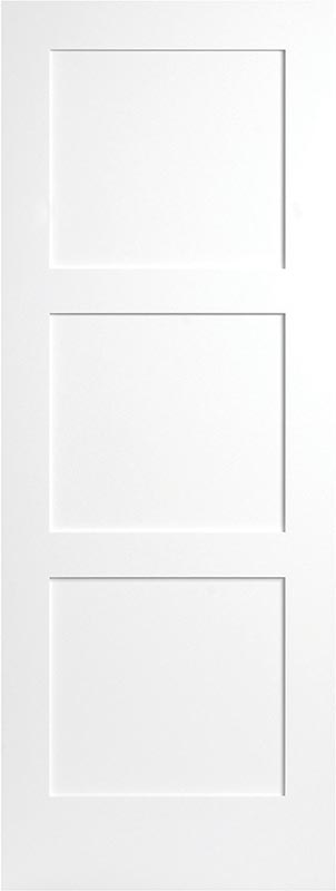 molded 3 panel eq-shaker smooth square door