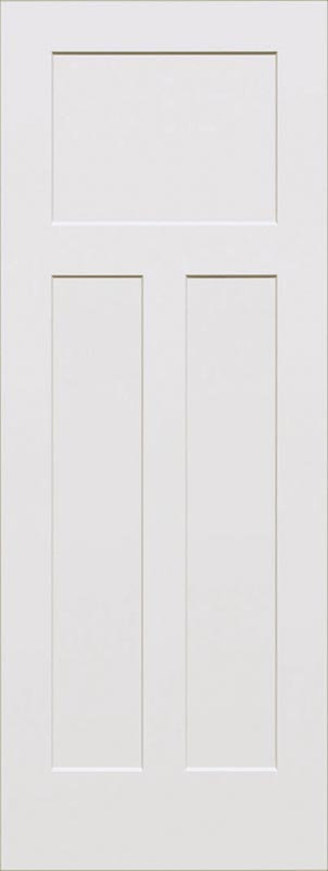 molded 3 panel shaker smooth square door