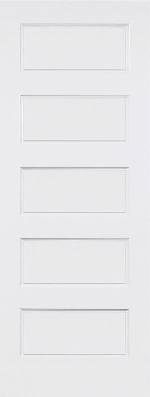 molded 5 panel shaker smooth square door