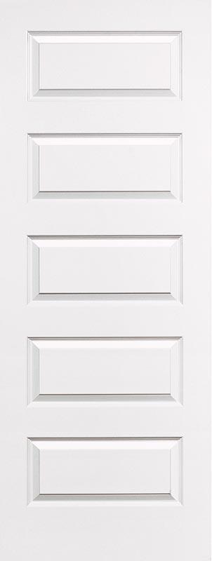 molded 5 panel smooth bead & cove door