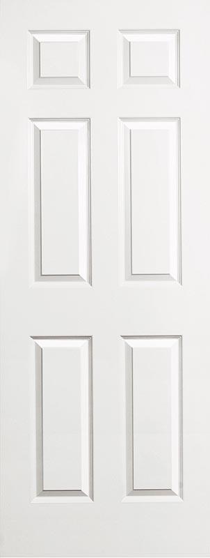molded 6 panel smooth bead & cove door